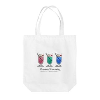 クリームソーダ Tote bags
