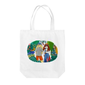 植物園にて Tote bags