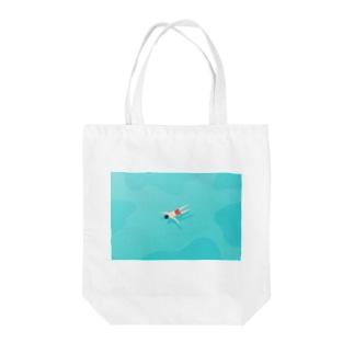 【全額寄付】 浮いている人 Tote bags