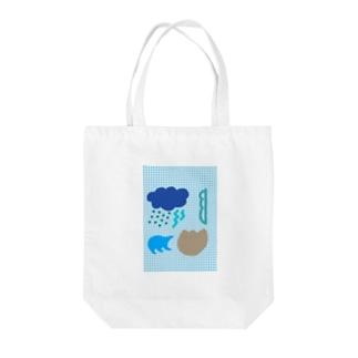 ブルースクリーン Tote bags