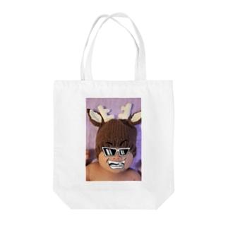 ポジティブマン Tote bags