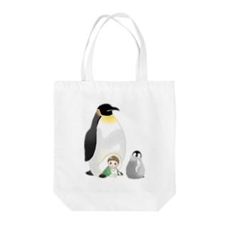 皇帝ペンギンとみーくん Tote bags