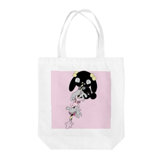 hArUのうさストロー🐰 Tote bags