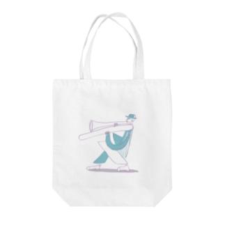 トロンボーンマン Tote bags