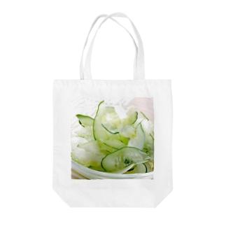 夏っぽいね!胡瓜とセロリのサラダだよ! Tote bags