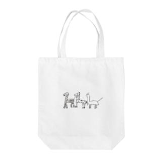 しょうこちゃんの本気/キリン/シマウマ/キョウリュウ Tote bags