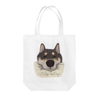 おねむな柴犬 Tote bags