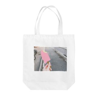 牡蠣が好きの帰り道のアイス Tote bags