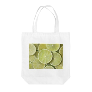 ライム-Lime Tote bags