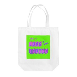 平行四辺形デザイン パープル×ピンク×グリーン Tote bags