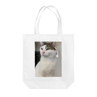 白猫オッドアイしろちゃ2 Tote bags