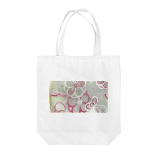 和柄~緑花~ Tote bags