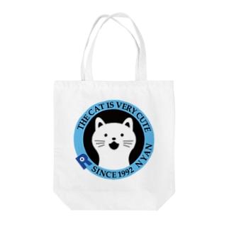 シンプルにゃんにゃん(猫) Tote bags