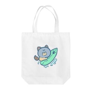 『やぐ』のお店のしぶけんさーふ Tote bags