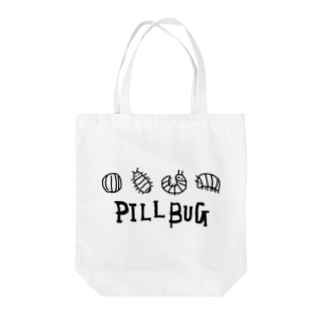 PILL BUG Tote bags