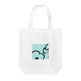 綿花のペールブルー Tote bags