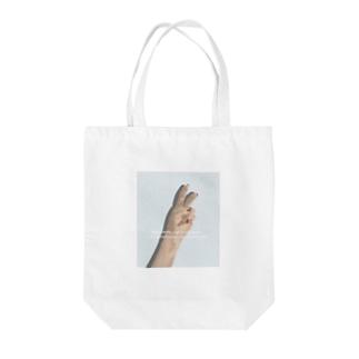 ピース Tote bags