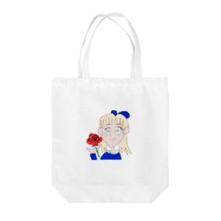 ローズgirl Tote bags