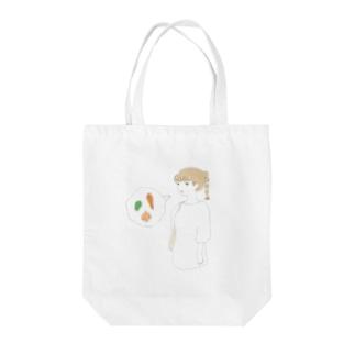買い物ガール Tote bags
