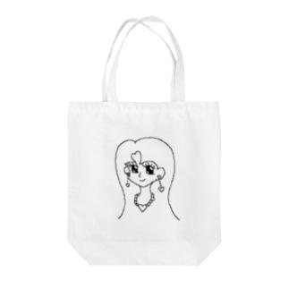 キラキラハート女の子 Tote bags