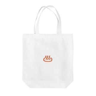 温泉マーク Tote bags