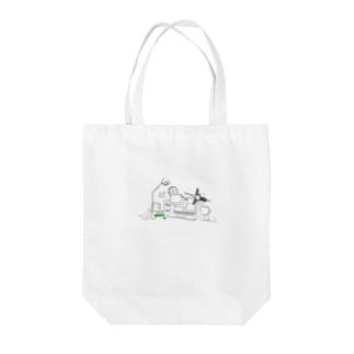 The constantly changing measure Tote bags