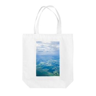 草笛鈴 / RIN KUSABUEの雲と田畑 空 Tote bags