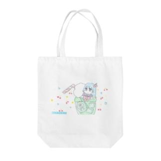 クリームソーダプール Tote bags