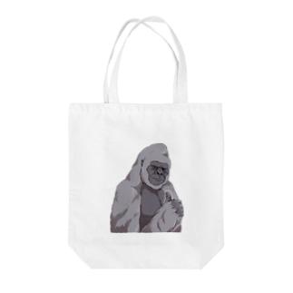 いいね!ゴリラ Tote bags