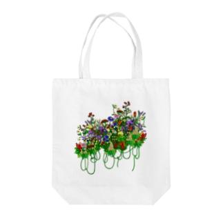 仮想花ブーケ Tote bags