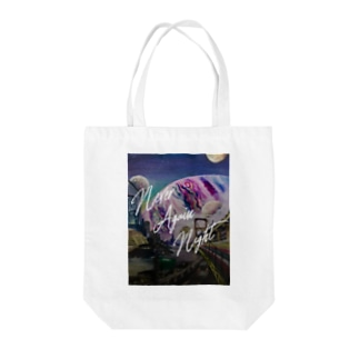Never Again Night Tote bags