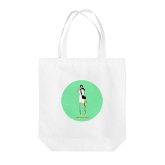 Fes(背景カラーあり) Tote bags