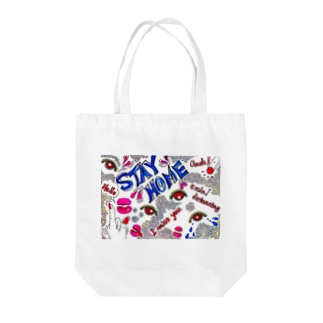 Stay Home  Tote bags