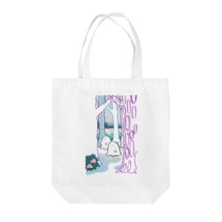 森のオバケちゃん(ひる) Tote bags