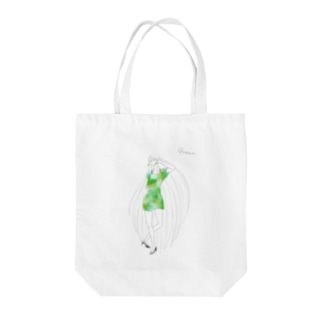palette: Green Tote bags