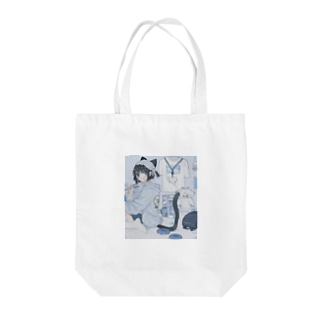 BLUEの音猫ちゃんPart2 Tote bags