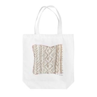 ニットトースト Tote bags