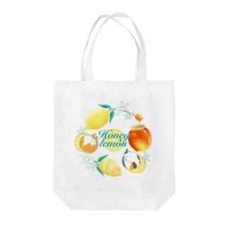 ねことはちみつレモン Tote bags