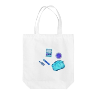 blue cosme Tote bags