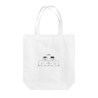 twins Tote bags