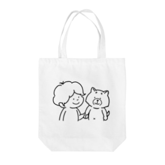 _t__r_o_o_m_のゴンちゃんとぼく Tote bags
