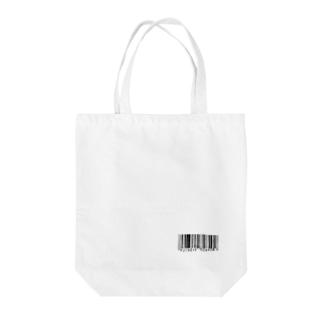 手描きのバーコード Tote bags