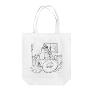 お風呂海水浴ゴリラ Tote bags