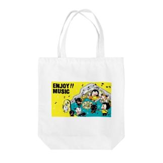 ENJOY MUSIC Tote bags