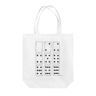 囲碁トランプ Tote bags