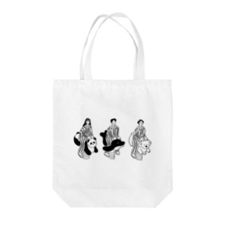 パンダイルカコアラ Tote bags