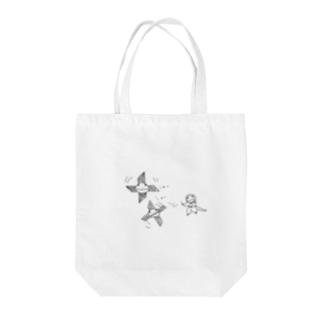 忍者サラマンダー Tote bags