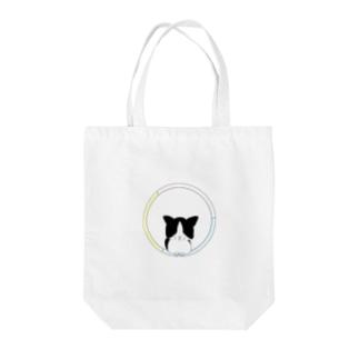 ネコとフラフープ Tote bags