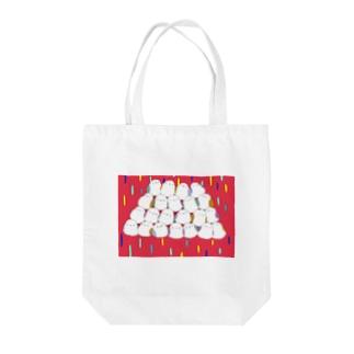 シマエナガさんてんこ盛り Tote bags