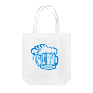 TEAM NYOSANCHI01(青文字) Tote bags